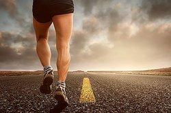 running on road